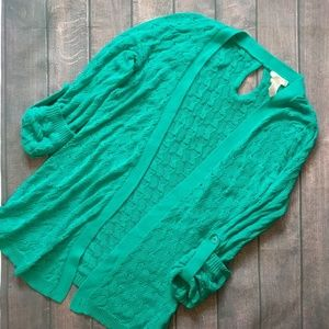 Tulle | Lightweight Knit Teal Cardigan